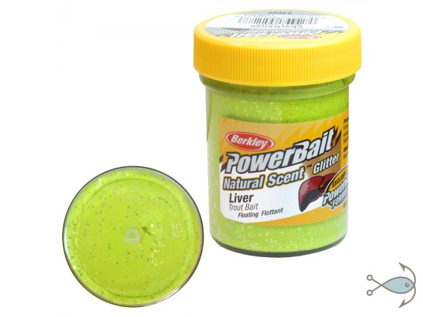 Паста форелевая Berkley Power Bait Liver Chartreuse