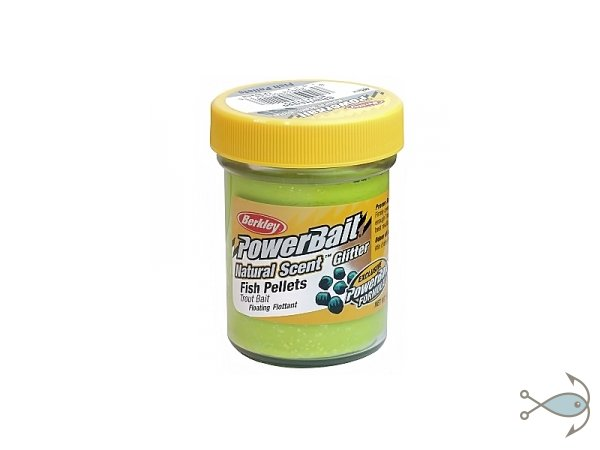 Паста форелевая Berkley Power Bait Fish Pellets Chartreuse