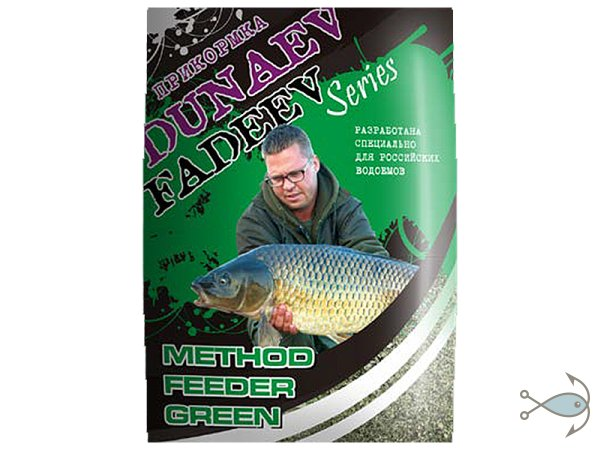ПРИКОРМКА DUNAEV-FADEEV FEEDER METHOD GREEN 1 кг