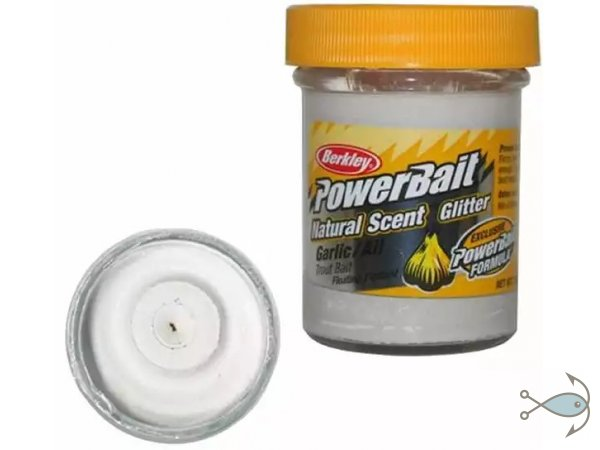 Паста форелевая Berkley Power Bait Natural Scent  Garlic White