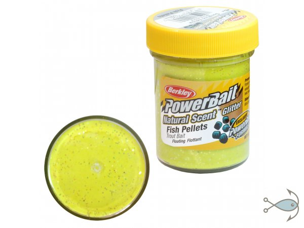 Паста форелевая Berkley Power Bait Fish Pellets Sunshine Yellow