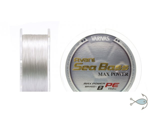 Плетёный шнур VARIVAS Sea Bass Max Power PE 8 Braid 150m