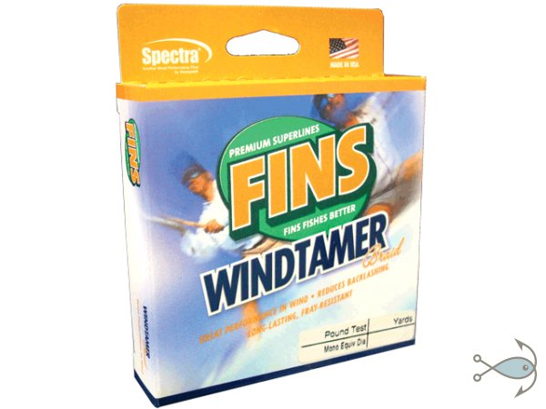 Плетёный шнур FINS WINDTAMER Braid Green 135m